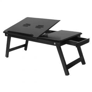 charcoal black laptop table online by gorevizon